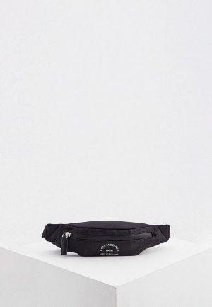 Сумка поясная Karl Lagerfeld. Цвет: черный
