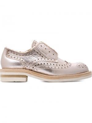 Туфли броги Kalee Pedro Garcia. Цвет: розовый и фиолетовый