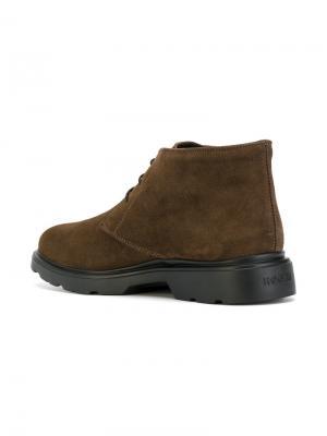 Ботинки-дезерты Hogan. Цвет: коричневый