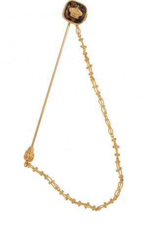Булавка для галстука с цепочкой Dolce & Gabbana. Цвет: золотой