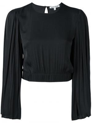 Укороченная блузка с плиссированными рукавами Elizabeth And James. Цвет: чёрный