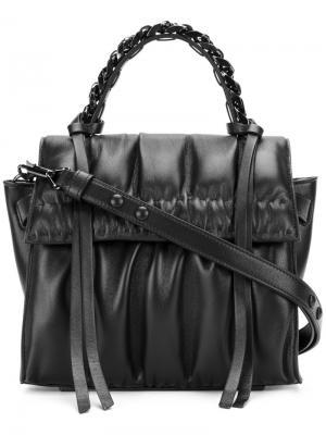 Маленькая сумка-тоут Angle Glove Elena Ghisellini. Цвет: чёрный