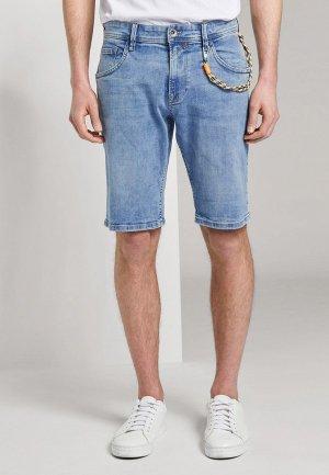 Шорты джинсовые Tom Tailor Denim. Цвет: синий