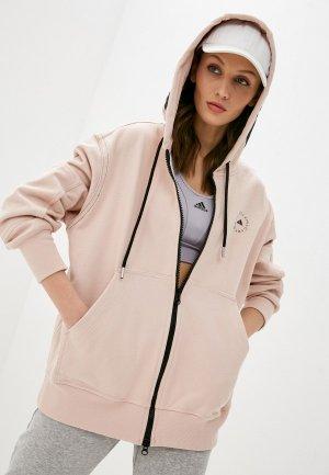 Толстовка adidas by Stella McCartney. Цвет: розовый