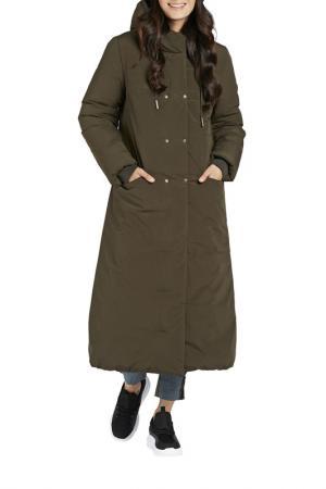 Пальто D`IMMA. Цвет: темный хаки
