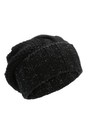Шапка из кашемира с фактурным узором Kashja` Cashmere. Цвет: черный