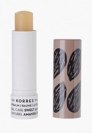 Бальзам для губ Korres. Цвет: бежевый