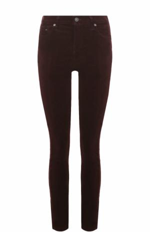 Однотонные джинсы-скинни Citizens Of Humanity. Цвет: бордовый