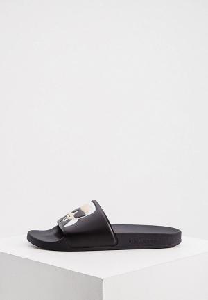 Сланцы Karl Lagerfeld. Цвет: черный
