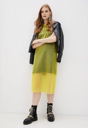Платье McQ Alexander McQueen. Цвет: желтый