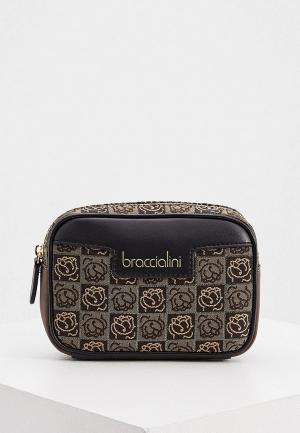 Сумка поясная Braccialini. Цвет: коричневый