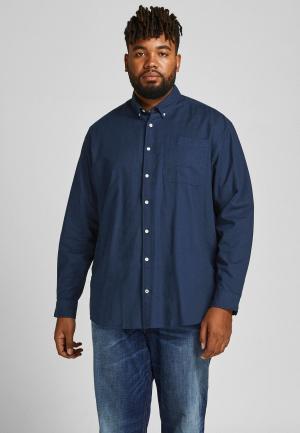 Рубашка Jack & Jones. Цвет: синий