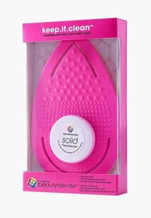 Набор для очищения спонжей beautyblender. Цвет: розовый