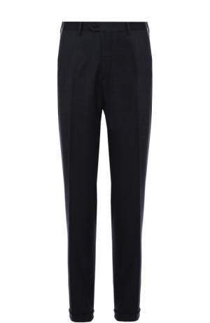 Классические шерстяные брюки в клетку Brioni. Цвет: синий