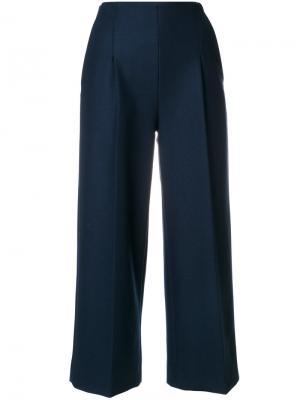 Широкие укороченные брюки Chalayan. Цвет: синий