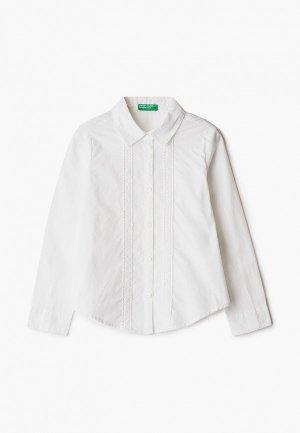 Блуза United Colors of Benetton. Цвет: белый