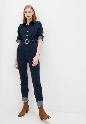 Комбинезон джинсовый Morgan. Цвет: синий