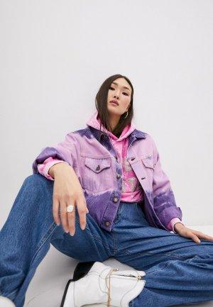 Куртка джинсовая Forte Dei Marmi Couture. Цвет: розовый