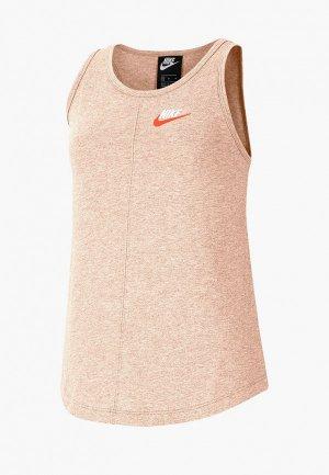 Майка Nike. Цвет: розовый
