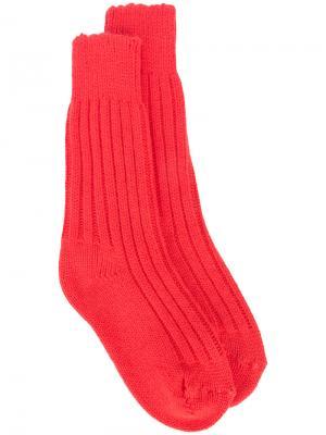 Кашемировые носки Yosemite The Elder Statesman. Цвет: жёлтый и оранжевый
