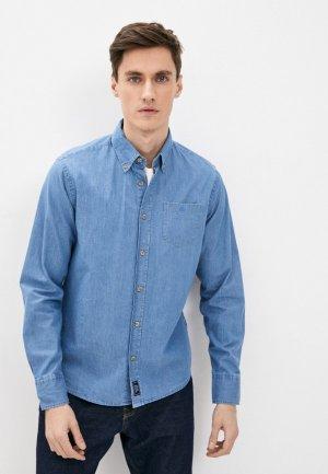 Рубашка джинсовая North Sails. Цвет: голубой