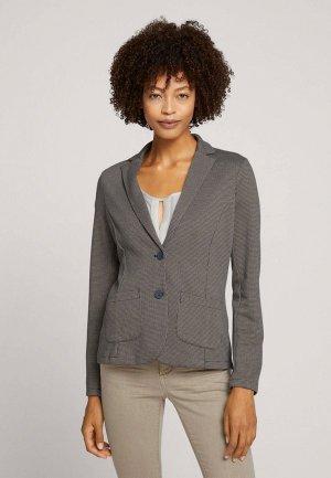 Пиджак Tom Tailor. Цвет: серый