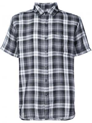 Клетчатая рубашка с короткими рукавами Michael Bastian. Цвет: чёрный