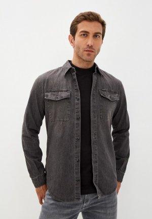 Рубашка джинсовая G-Star. Цвет: серый