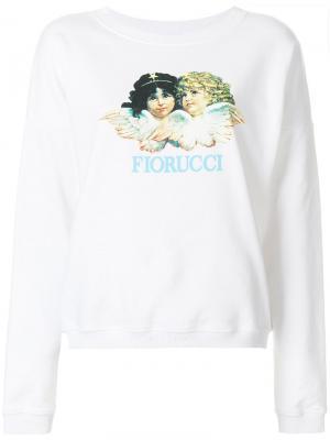 Толстовка с принтом логотипа Fiorucci. Цвет: белый