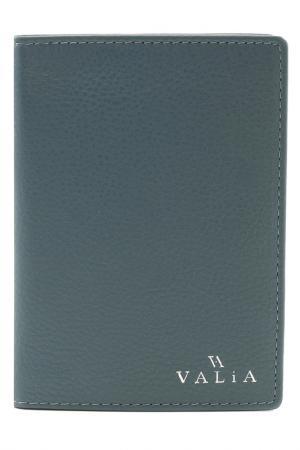 Обложка для паспорта VALIA. Цвет: бирюзовый