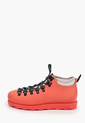 Ботинки Native. Цвет: коралловый