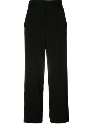 Укороченные брюки Nicole Miller. Цвет: чёрный