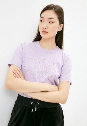 Футболка Juicy Couture. Цвет: фиолетовый