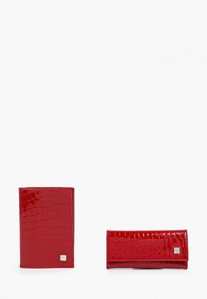 Обложка для документов и ключница Dimanche. Цвет: красный