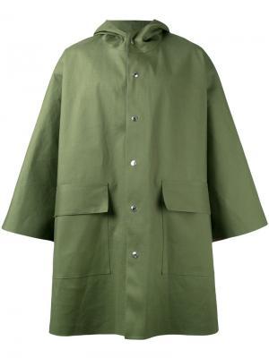 Свободный плащ-дождевик Mackintosh. Цвет: зелёный
