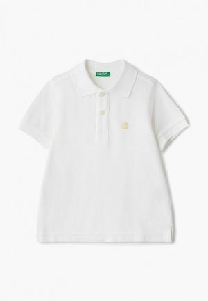 Поло United Colors of Benetton. Цвет: белый