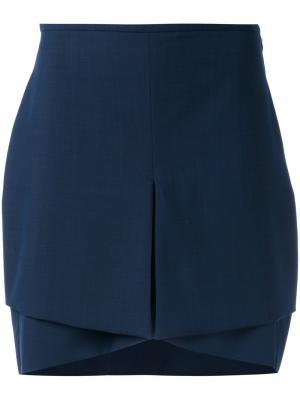 Асимметричная мини-юбка Antonio Berardi. Цвет: синий
