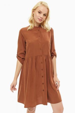 Платье COMMA,. Цвет: коричневый