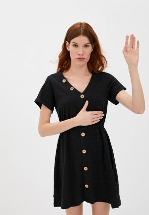 Платье Roxy. Цвет: черный