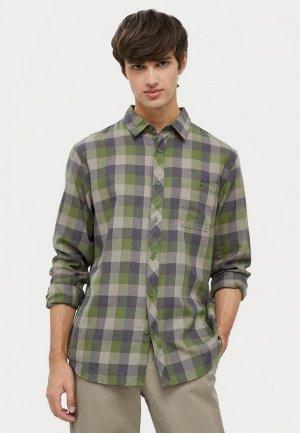 Рубашка Finn Flare. Цвет: зеленый