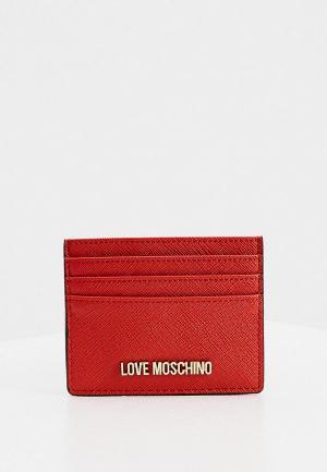 Визитница Love Moschino. Цвет: красный