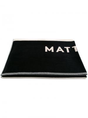 Большое жаккардовое пляжное полотенце Matteau. Цвет: синий