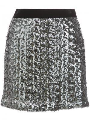 Приталенная декорированная юбка Milly. Цвет: серый