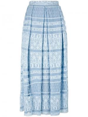 Кружевная юбка House Of Holland. Цвет: синий