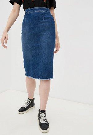 Юбка джинсовая Marco Bologna. Цвет: синий