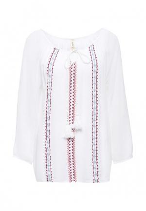 Блуза Emoi. Цвет: белый