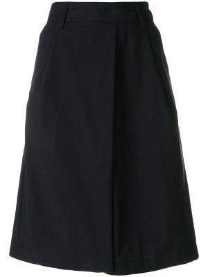Асимметричная юбка А-силуэта Margaret Howell. Цвет: синий