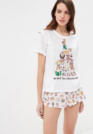Пижама Befree. Цвет: белый