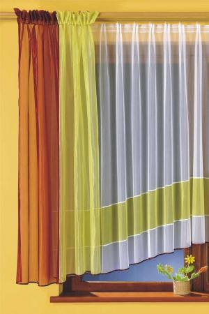 Комплект штор кухня WISAN. Цвет: салатовый