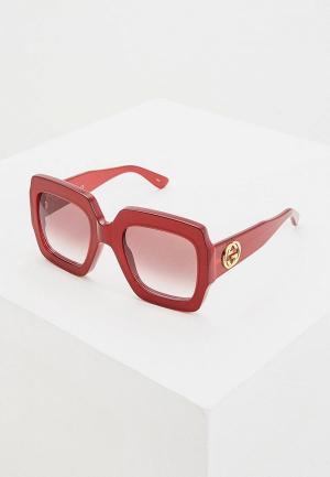 Очки солнцезащитные Gucci. Цвет: красный